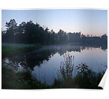 Dream Landscape - Evening Mists at Idtjärn Poster