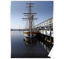 graceful lines on the tall ships Poster