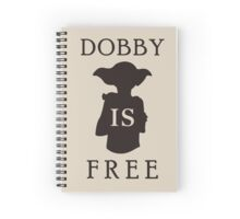 Dobby is FREE Spiral Notebook