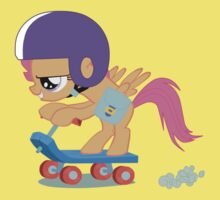 Scootaloo Scootin' by RageGrenade