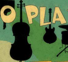 Learn to play jazz  Sticker