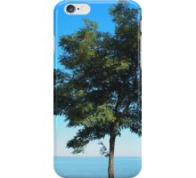 Lonely tree acacia on the shores of the sea iPhone Case/Skin