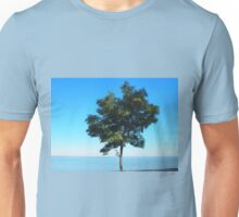 Lonely tree acacia on the shores of the sea Unisex T-Shirt