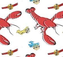 Flying Lobsters Sticker