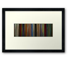 Moviebarcode: Hobo with a Shotgun (2011) Framed Print