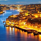 Porto: panorama of Ribeira and Douro river  by nickthegreek82