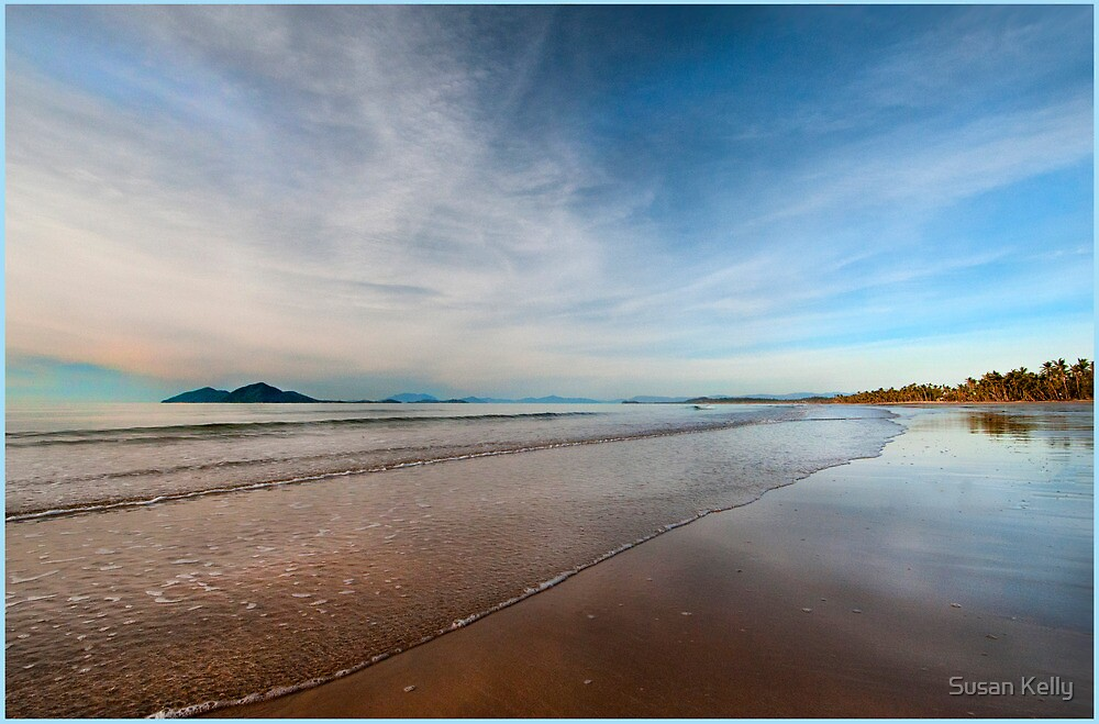 Still water over Dunk Island, Mission Beach FNQ by Susan Kelly