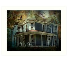 Batty Bates Motel Art Print