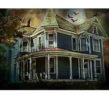 Batty Bates Motel Photographic Print