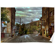 Rainswept Streets of Jerome Poster