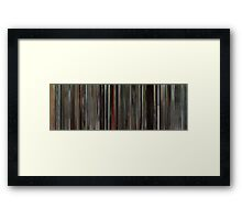Moviebarcode: Annie Hall (1977) Framed Print