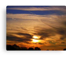 The sky at night  Canvas Print