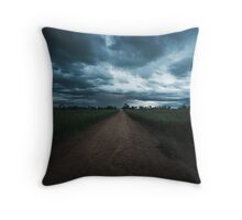 Down the Track Throw Pillow