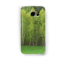 Spring Green - Birch Trees Samsung Galaxy Case/Skin
