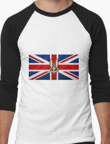 Special Air Service - S A S Badge over U K Flag Men's Baseball ¾ T-Shirt