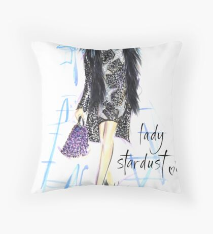 Lady Stardust! Throw Pillow
