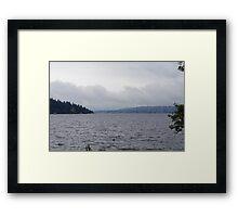Overcast Lake Washington Framed Print