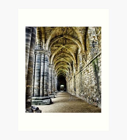 At the side of the Nave  - Kirkstall Abbey Art Print