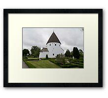 Sankt Ols Kirke on Bornholm Framed Print