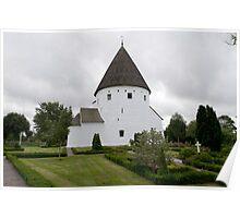 Sankt Ols Kirke on Bornholm Poster