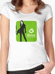 iDrive (Green) Women's Fitted Scoop T-Shirt