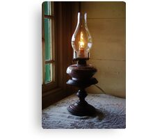 Oil Lamp At The Mission House Canvas Print