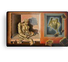 "Surreal Portents of Genius - oil on canvas - 45"" x 26"" Metal Print"