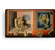 "Surreal Portents of Genius - oil on canvas - 45"" x 26"" Canvas Print"