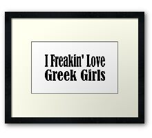 Greece Framed Print
