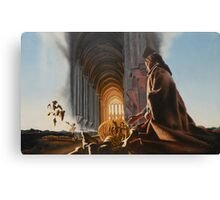 "Surreal Cathedral - oil on canvas - 50"" x 31"" Canvas Print"