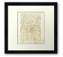 USGS Topo Map Oregon Newberry Crater 283234 1935 125000 Framed Print