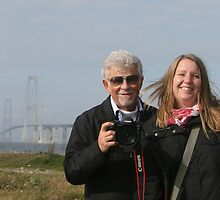 Hello, friends.......... from the Great Belt Bridge by Brenda Dow