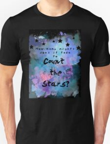 Infinity- One Direction Lyrics (Digital Art) Unisex T-Shirt