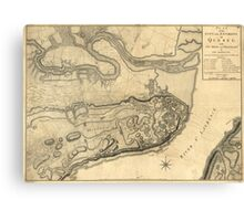 Map of the Province of Quebec Canada by William Faden (1776) Canvas Print