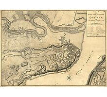 Map of the Province of Quebec Canada by William Faden (1776) Photographic Print