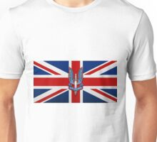 Special Air Service - S A S Insignia over U K Flag Unisex T-Shirt