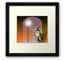 Arch Window and Woman Framed Print