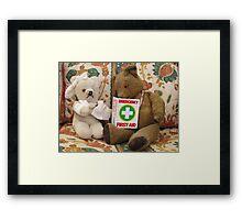 Teddy Aid! Framed Print