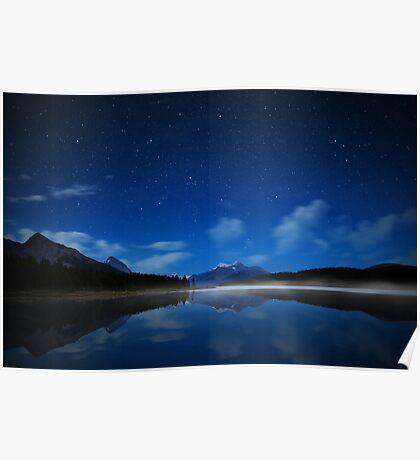 Maligne Starry Sky Poster