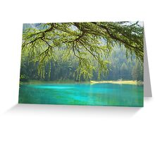 Gruener See 2 Greeting Card