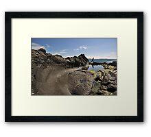 Wave Rock Framed Print