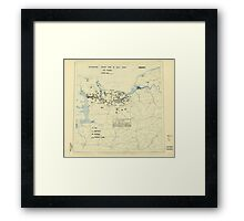 World War II Twelfth Army Group Situation Map July 15 1944 Framed Print