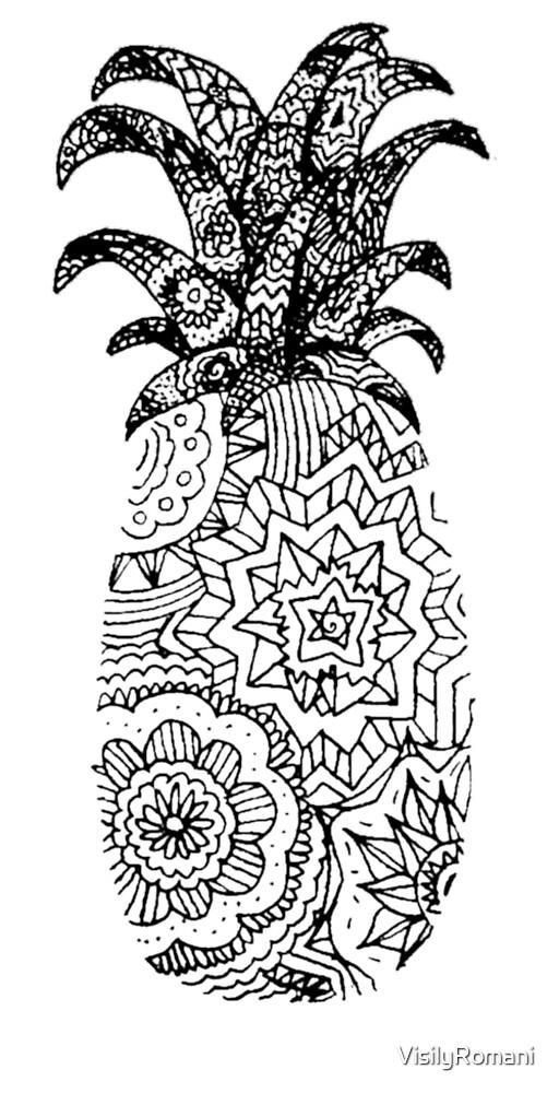 """Pineapple Mandala "" by VisilyRomani | Redbubble"