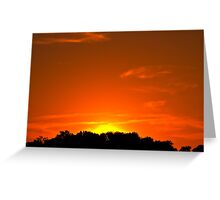 Townsend Sunset Greeting Card