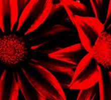 Red&Black Flowers Sticker