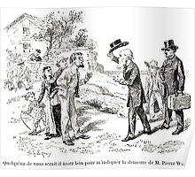 Achille Sirouy Mark Twain Les Aventures de Huck Huckleberry Finn illustration p170 Poster
