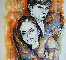 Kristin Kreuk, Tom Welling, featured in No Nudes group and painters univers group  by Françoise  Dugourd-Caput