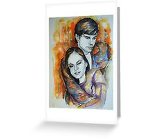 Kristin Kreuk, Tom Welling, featured in No Nudes group and painters univers group  Greeting Card