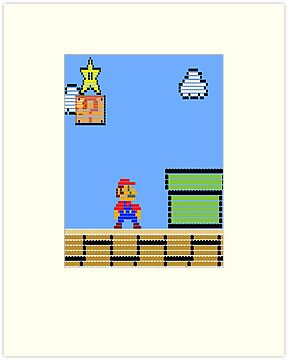Mario Land Nes LegoBrick Style by McLovely