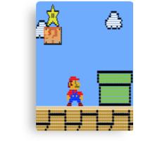 Mario Land Nes LegoBrick Style Canvas Print